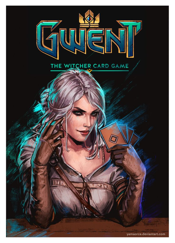affiche the witcher card game gwent